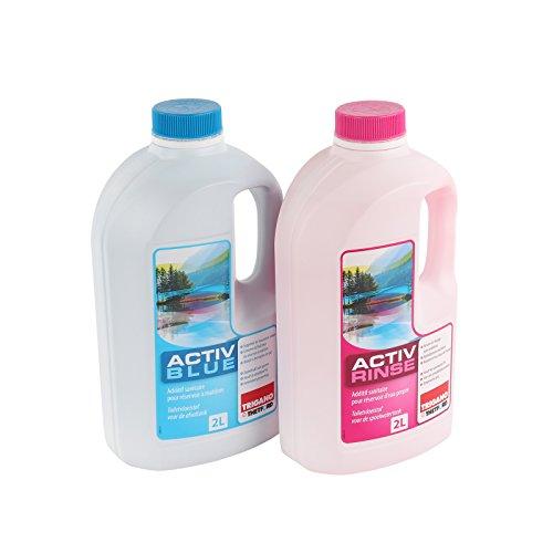 Preisvergleich Produktbild Set Thetford Activ Blue & Aktiv Rinse Toiletten Zusatz je 2 Liter,  wahlweise mit Toilettenpapier (Blue + Rinse)