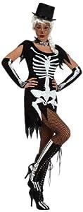 Atosa 10481 Disfraz esqueleto adulto M-L, talla mujer