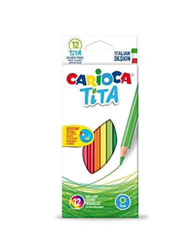 Carioca 42793-Scatola da 12matite colorate Tita - esagonali