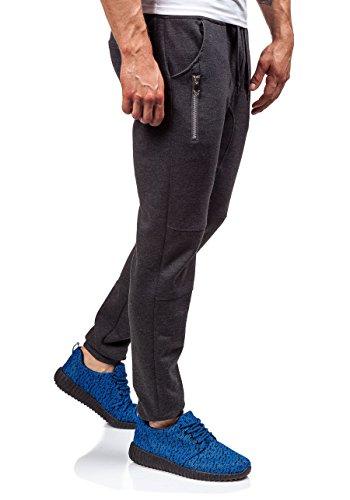 BOLF �?Pantaloni sportivi �?Jogging pantaloni �?Baggy �?J.STYLE 6025 �?Uomo Anthracite