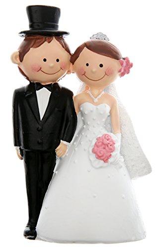 Tortenfigur Tortenaufsatz Hochzeitsfigur 'Mr & Mrs' - Hochzeitstorte Dekoration Hochzeit - 4937