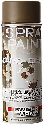 Swiss Arms Peinture pour répliques en métal et plastique Dark Earth 400 ml