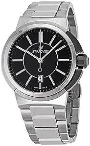 Swarovski Men's Black Dial Stainless Steel Band Watch - 1094353, Analog Dis