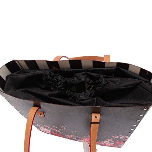 0612T borsa donna SIDE+ TOTEBAG BOUQUET ecofriendly hand bag woman Multicolore