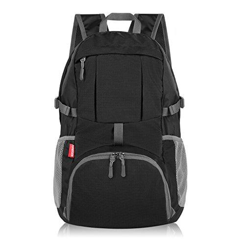 Foregoer Mochila plegable y ligera para viajes, 30 L, color 1 negro, tamaño large