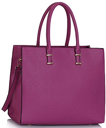 LeahWard® Damen X Groß Mode Essener Berühmtheit Tragetaschen Damen Qualität Schnell verkaufend Modisch Handtaschen CWS00319B CWS00319C CWS00319 (CWS00319 Lila) (Tasche Kunstleder)
