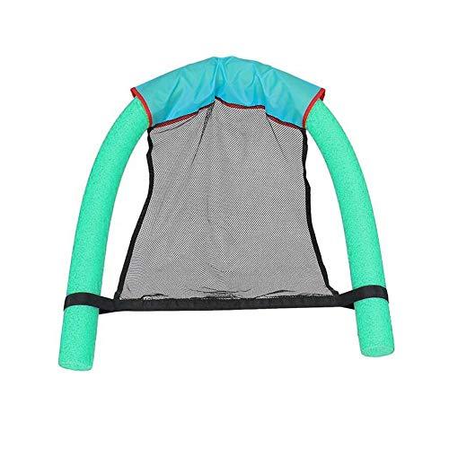 LIANA IRWIN Schwimmender Stuhl,Schwimmnudel mit Netz Stühle Geeignet für Sommer Vergnügungsparks, Parks, Schwimmbäder