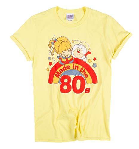 Womens Yellow Rainbow Brite Made in The 80s Rolled Sleeve Boyfriend T Shirt -