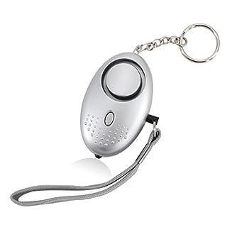 AUCOS Panikalarm Schlüsselanhänger, Taschenlampe und Mini Alarm mit 140db Sirene Beleuchtung 1 Pcs