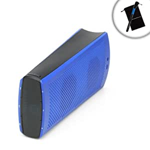 GOgroove Mini Bluetooth Kid-Friendly Wireless Speaker BlueSYNC TWR - Works With ClickN Kids , LeapFrog , Fuhu Nabi , Google Nexus 7 , Samsung Galaxy Tab 3 Kids Edition and More Children's Tablets **Includes Accessory Bag and Cleaning Brush Stick**