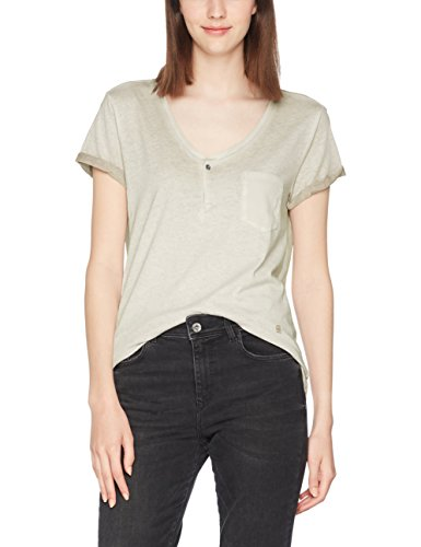 G-STAR RAW Damen T-Shirt NOLA Granddad T Wmn S/S, Beige (whitebait 1603), Large (Boyfriend V-neck Top)