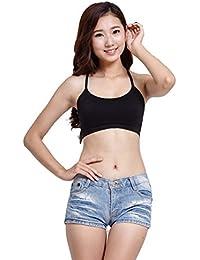aimerfeel bracelet d'été pour femmes adolescentes tops culture avec soutien-gorge rembourré et creux sur le design dos, noir, taille unique 85A-90DD