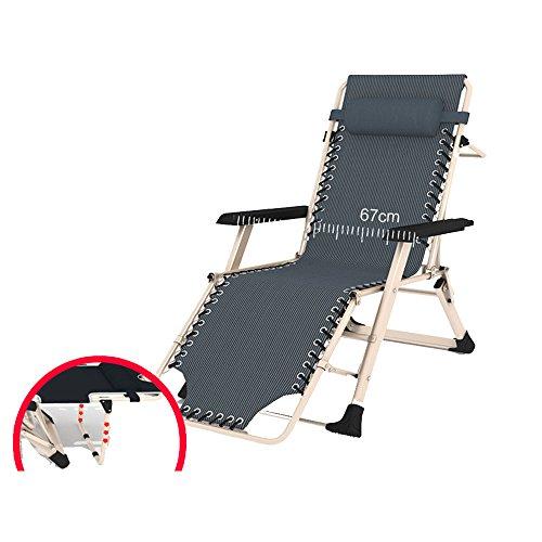 FEIFEI Deckchairs Lounge Chair Klappstuhl Sun Chair Mittagspause Bürostuhl Balkon Indoor Gartenstuhl Zusammenklappbar ( Farbe : B )