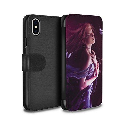 Officiel Elena Dudina Coque/Etui/Housse Cuir PU Case/Cover pour Apple iPhone X/10 / Par le Vent Design / Un avec la Nature Collection Par le Vent