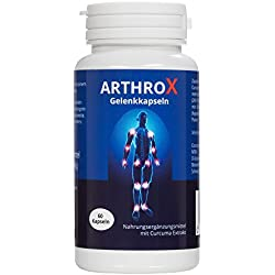 ARTHROX Gelenk-Kapseln rein pflanzlich, vegan | Kapsel mit Kurkuma-Extrakt, MSM, Weihrauch, Glucosamin hochdosiert