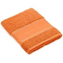 Toalla de lavabo naranja para bordar a punto de cruz