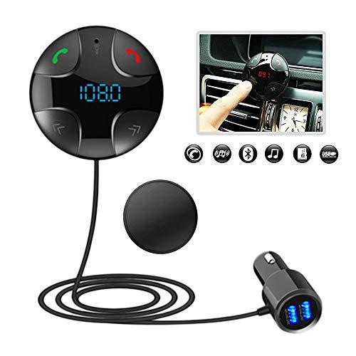 iitrust Auto FM Transmitter, Bluetooth 3.0 Freisprecheinrichtung | Auto-Ladegerät, Bluetooth Stereo Musikwiedergabe 2 USB-Port (Schwarz) (Stereo Fm-transmitter)