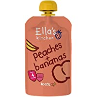 EllaŽs Melocotón Plátano 120gr