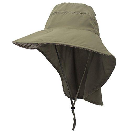 Amorar Männer Sonnenhut mit UV Schutz Sommer Hut Outdoor Sonnenschutz Cap mit Nackenschutz Schnell Trocken Fischerhut Atmungsaktiv Hüte für Radfahren, Wandern, Jagd, Camping,EINWEG Verpackung