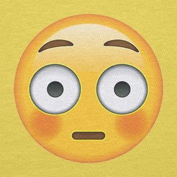Texlab–Flushed Face Emoji–sacchetto di stoffa Gelb