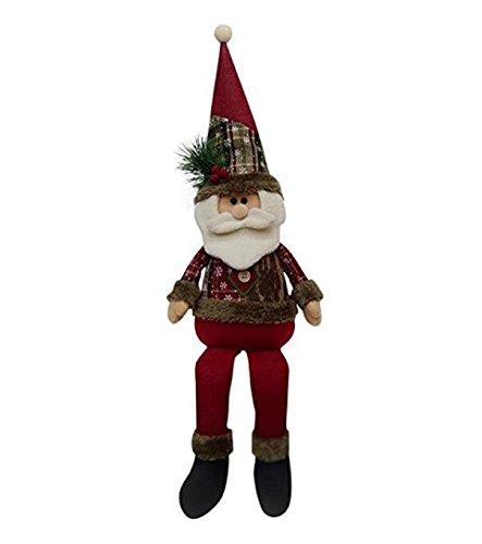 Warmman divertenti decorazioni per feste natale gamba lunga babbo natale seduto bambola pupazzo di neve decorazioni per la tavola di natale