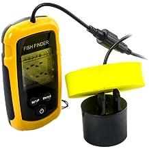 Ckeyin ® 100m Portable Gran pantalla LCD del sensor del soñar Buscador de los pescados con transductor de la alarma para la pesca LED de contraluz
