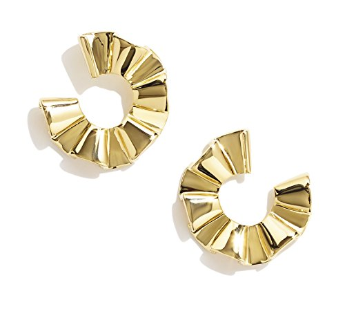 sarah-magid-yellow-gold-plated-ruffle-front-hoops