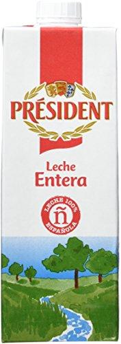 President Leche Entera - Pack de 6 x 1 l - Total: 6 l