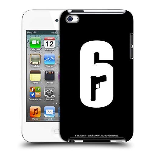 Head Case Designs Offizielle Tom Clancy's Rainbow Six Siege Schwarz Und Weiss Logo Harte Rueckseiten Huelle kompatibel mit Apple iPod Touch 4G 4th Gen Sieg Ipod