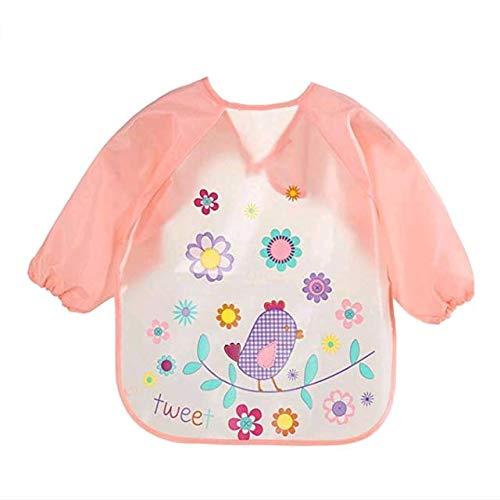 AK.SSI Kinder gedruckt wasserdicht Anti-Dressing Cartoon Kittel Baby Einweg Langarm Lätzchen 1pcs (Style O) - Einweg Kind-kittel
