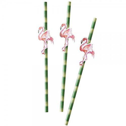 Ginger-Ray-Pajitas-de-papel-con-diseo-de-Flamenco-y-bamb-20-unidades-ideal-para-fiestas-barbacoas-y-fiestas-de-verano-hawaianas