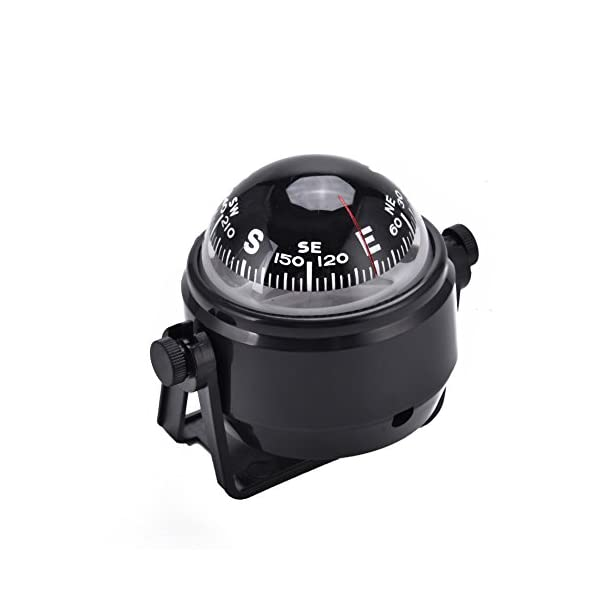 Dilwe Boat Compass, Black Electronic Adjustable Compass for Boat Night Vision 9