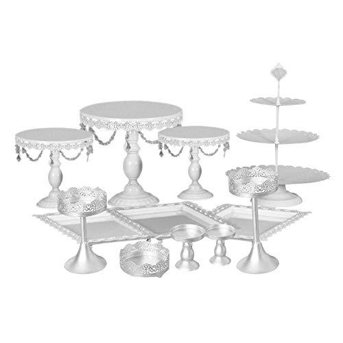 flower205 12 Teile/Satz Kuchen Cupcake Ständer Display Dessert Halter, Hochzeit Regal Schmiedeeisen Kristall Rack Tischdekoration