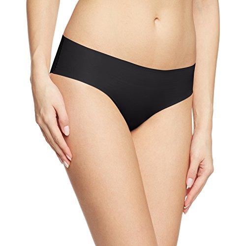 Nahtlose Mikrofaser Bikini (Calida Damen Slip Silhouette, Einfarbig, Gr. 42 (Herstellergröße: S 40/42), schwarz (schwarz 992))