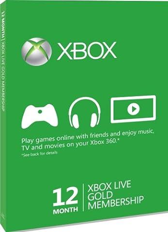 Xbox 360 - Live Gold - 12 Monate [UK Import]