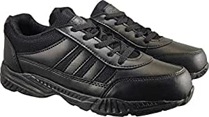Action Shoes Boy's Black Synthetic Leather Lightweight Durable School Shoes - UK/India 2