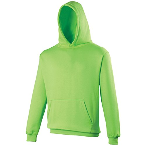 AWDis Damen Modern Kapuzenpullover Gr. 60, Electric Green (Top Sleeve Tan Short)