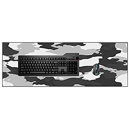 Schwarz grau und weiß Winter Schnee camo Camouflage mauspad silikon gedruckt Mousepad Spiel Matte -