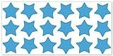 wandfabrik - Fahrradaufkleber 18 Sterne in babyblau
