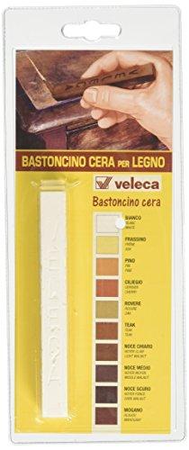 Veleca Bastoncino Cera, Ritocco per Legno, Bianco