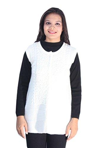 Romano Damen Mantel, Gestreift Weiß Weiß Gr. X-Large, Weiß - Weiß