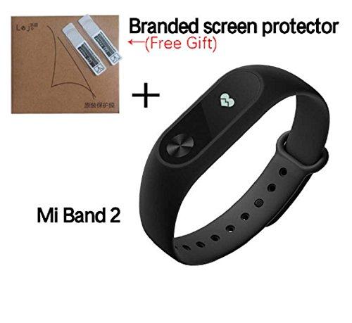 Xiaomi Mi Band 2 Fitnessarmband (Schlaftracker, Aktivitätstracker, Pulsmesser) Schwarz - Custom Shop 30
