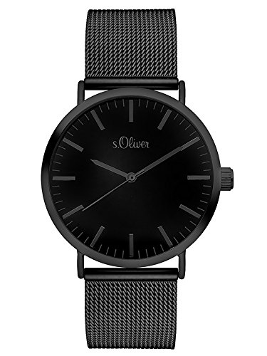 S.Oliver Damen Analog Quarz Armbanduhr SO-3216-MQ