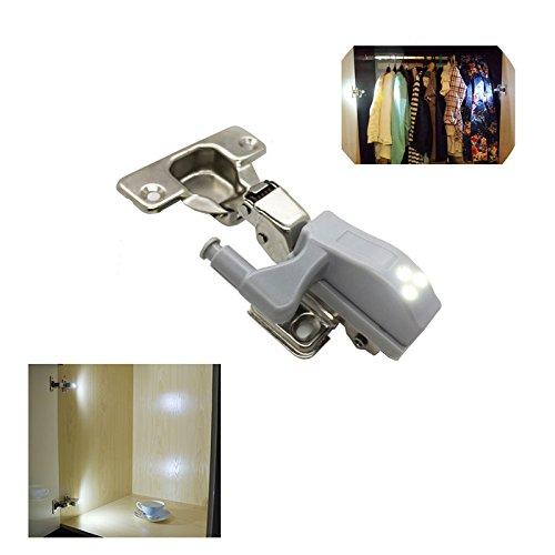Lampe Universal für Schrank anpassbar auf Tür Kleiderschrank Scharnier stantard ESS Tech® Kit Beleuchtung Innen Waschtisch [2Pieces] - Ess-kit