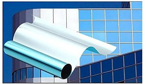 DiversityWrap Blue Solar Reflective One Way Mirror Window Film Privacy Sticker Glass Tint 76cm … (4m x76cm (157.4