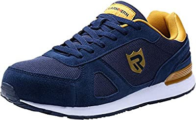 LARNMERN Stahlkappe Sicherheitsschuhe, Herren luftdurchlässige Leichte Anti-Smashing Schuhe Industrie und Handwerk