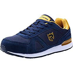 LARNMERN Chaussures de sécurité Homme Embout Acier Protection,Chaussures de Travail Respirantes légèr Basket Securite (45 EU, Bleu)