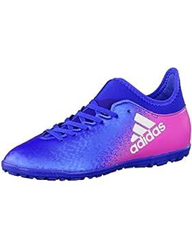 adidas X 16.3 TF J - Botas de fútbolpara niños, Azul - (Azul/FTWBLA/Rosimp), 28