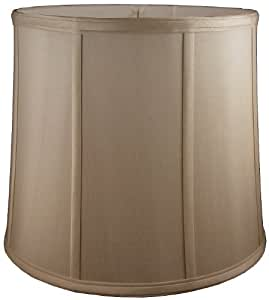 American Pride Lampshade Co. 74-78090608 Round Soft Shantung Tailored Lampshade, Croissant
