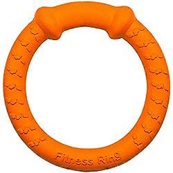 LaRoo Dog Flying Ring Frisbee Animales Domésticos Flying Disc Anillo no Tóxico de Fitness para Perros